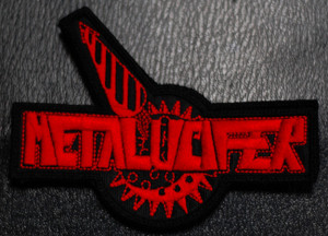 "Metalucifer - Logo 4x2"" Embroidered Patch"