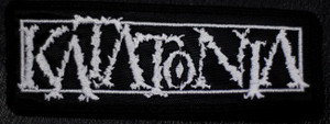 "Katatonia - Logo 5x2"" Embroidered Patch"