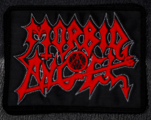 "Morbid Angel - Red Logo 5x4"" Embroidered Patch"