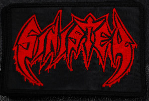 "Sinister - Logo 5x3"" Embroidered Patch"