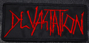 "Devastation - Logo 5x2.5"" Embroidered Patch"