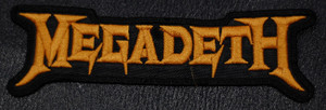 "Megadeth - Logo 5.5x2"" Embroidered Patch"