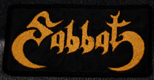 "Sabbat - Logo 5x2.5"" Embroidered Patch"