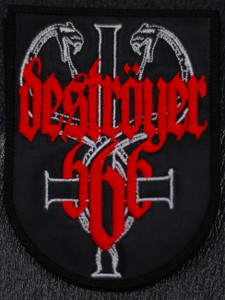 "Destroyer 666 - Coat of arms 4x5"" Embroidered Patch"