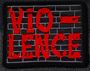 "Vio-Lence - Red Logo 4.5x4"" Embroidered Patch"