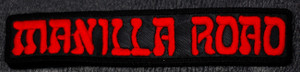 "Manilla Road - Red Logo 6x1"" Embroidered Patch"