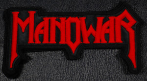 "Manowar - Logo 4x3"" Embroidered Patch"