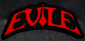"Evile - Red Logo 4.5x3"" Embroidered Patch"