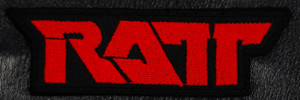 "Ratt - Red Logo 4x1.5"" Embroidered Patch"