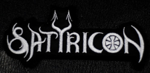 "Satyricon - White Logo 5x2"" Embroidered Patch"