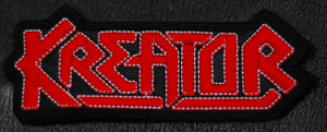 "Kreator - Red/Black Logo 4x5"" Embroidered Patch"