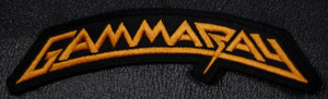 "Gamma Ray - Gold Logo 5.5x2"" Embroidered Patch"