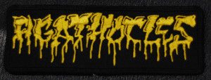 "Agathocles - Yellow Logo 4.5x1"" Embroidered Patch"
