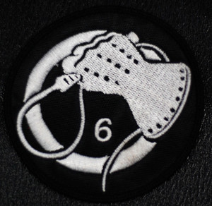 "Death In June - Glove 3x3"" White Embroidered Patch"