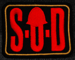 "S.O.D. - Logo 4x3"" Embroidered Patch"