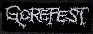 "Gorefest - Logo 5x2"" Embroidered Patch"
