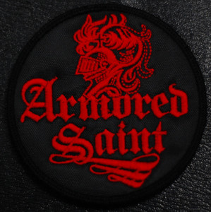 "Armored Saint - Warrior 4x4"" Embroidered Patch"