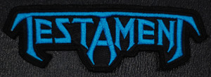 "Testament - Logo 4x2"" Embroidered Patch"