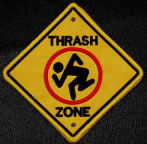 "D.R.I. - Thrash Zone 3.5x3.5"" Embroidered Patch"