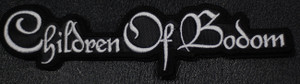 "Children of Bodom - White Logo 6x1.5"" Embroidered Patch"
