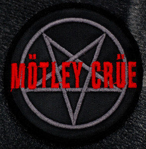 "Motley Crue - Pentagram 4x4"" Embroidered Patch"