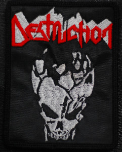 "Destruction - Skull 3x4.5"" Embroidered Patch"