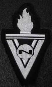 """VNV Nation - V Logo 2.5x4"""" Embroidered Patch"""