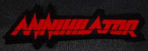 "Annihilator - Red Logo 5.5x2"" Embroidered Patch"