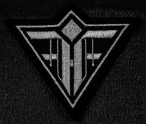 "Feindflug - Grey Logo 4x3"" Embroidered Patch"
