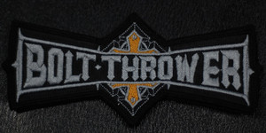 "Bolt Thrower - Grey Logo 5.5x2"" Embroidered Patch"