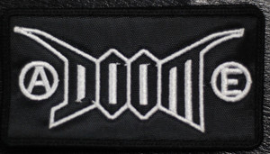 "Doom - Logo 4.5x2.5"" Embroidered Patch"