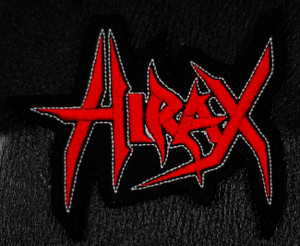 "Hirax - Red Logo 4x3.5"" Embroidered Patch"