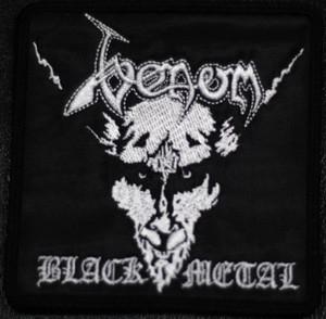 "Venom - Black Metal 4x4"" Embroidered Patch"