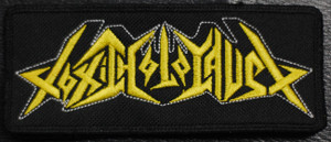 "Toxic Holocaust - Yellow Logo 4.5x2"" Embroidered Patch"