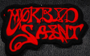 "Morbid Saint - Red Logo 3x2.5"" Embroidered Patch"