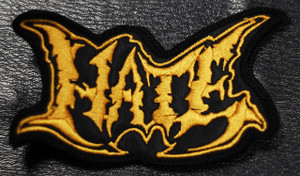 "Hate - Gold Logo 4x2"" Embroidered Patch"