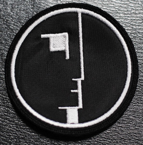 "Bauhaus - Face Logo 3x3"" Embroidered Patch"