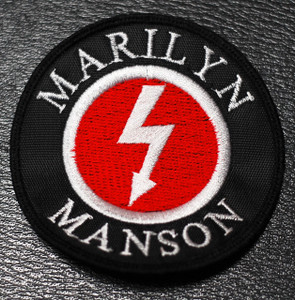 "Marilyn Manson - Bolt Logo 3x3"" Embroidered Patch"