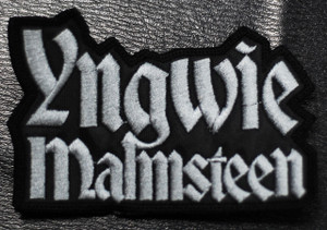 "Yngwie Malmsteen - Logo 3.5x2"" Embroidered Patch"