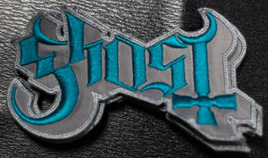 "Ghost - Grey Logo 5x2"" Embroidered Patch"