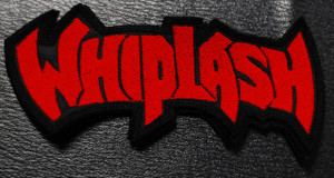 "Whiplash - Red Logo 4x2.5"" Embroidered Patch"