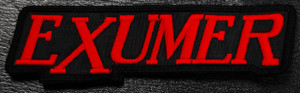 "Exumer - Red Logo 5x1.5"" Embroidered Patch"