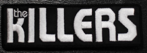 "The Killers - White Logo 5.5x1"" Embroidered Patch"
