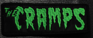 "The Cramps - Green Logo 4.5x1."" Embroidered Patch"