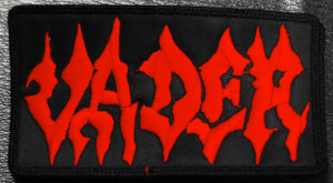 "Vader - Red Logo 4x2"" Embroidered Patch"