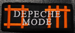 "Depeche Mode - DM Orange Logo 4x2"" Embroidered Patch"