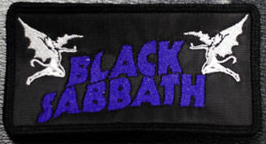 "Black Sabbath - Demons Logo 5x2.5"" Embroidered Patch"
