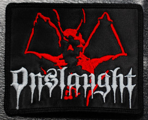 "Onslaught - Demon 4x3"" Embroidered Patch"