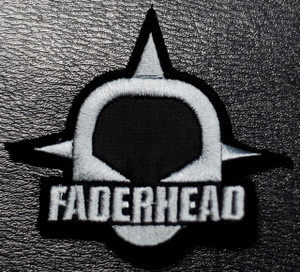 "Faderhead - Grey Logo 3x3"" Embroidered Patch"