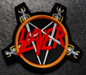 "Slayer - Swords Pentagram 4x3"" Embroidered Patch"